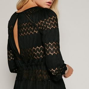 Free People Tops - Free People, Fire Island Crochet-Detail Puff NWT